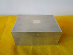 BOX ART DECO STERLING SILVER CLOSES TIGHT C 1920 FRENCH ENGINE TURN DESIGN