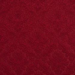 E540 Red Floral Durable Jacquard Upholstery Grade Fabric By The Yard