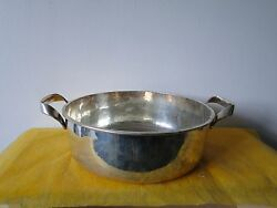 Italian Fruit Bowl Sterling Silver Arts And Crafts 1973 Marked Hand Hammered