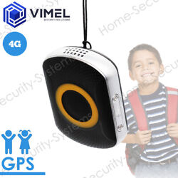 4g Real Time Portable Gps Tracker For Kids Elderly Waterproof Sos Button