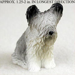 Skye Terrier Collectible Mini Resin Hand Painted Dog Figurine