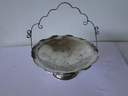 Chinese Sterling Silverbasket Engraved Miniature 1880 Fully Marked Antique