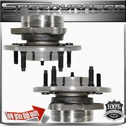 Two 97-00 Ford F150 Front Wheel Hubs Bearings 4wd 4x4 5 Lugs Non-abs 12mm Lugs