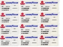 60 Kendall Goodyear Static Cling Oil Change Sticker