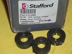 3 New 7l009 Stafford 9/16 1 Pc-clamp Collar Steel Low Profile Free Shipping