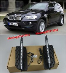 FOR BMW X5 E70 2009-2010 Bumper Grille  LED Daytime Running light DRL Lamp new A