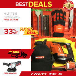 Hilti Te 5 Hammer Drill Good Condition Free Angle Grinder Fast Shipping