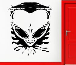 Angry Allien Spaceship Universe Space Decor Wall Stickers Vinyl Decal Z2251