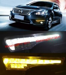 2x LED Daytime Running Light DRL withTurn Signal for Nissan Teana 2013-2014 AAAA