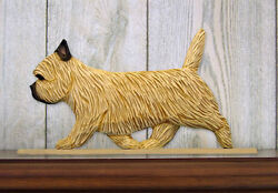 Cairn Terrier Dog Figurine Sign Plaque Display Wall Decoration Wheaten