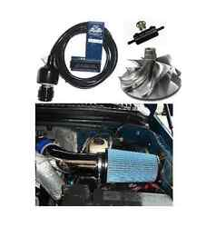 94.5-03 Powerstroke 7.3l Ts 6 Position Chip And 4 Polished Afe Intake And Brv And Ww2