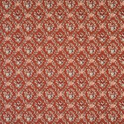 F915 Red And Green Floral Diamond Tapestry Upholstery Fabric By The Yard