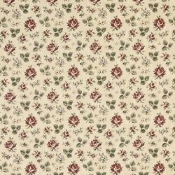 F909 Gold Burgundy And Green Floral Tapestry Upholstery Fabric By The Yard