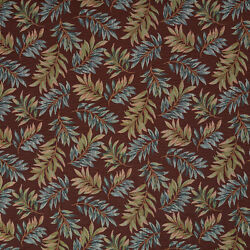 F933 Red And Green Floral Leaves Tapestry Upholstery Fabric By The Yard