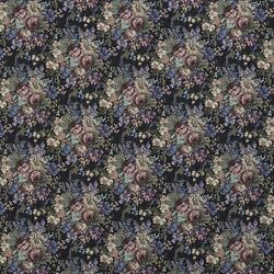 F927 Blue Green And Burgundy Floral Tapestry Upholstery Fabric By The Yard