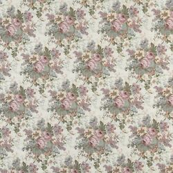 B400 Pink Blue And Green Floral Tapestry Upholstery Fabric By The Yard