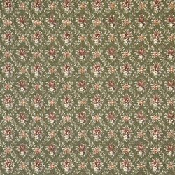 F918 Green And Burgundy Floral Diamond Tapestry Upholstery Fabric By The Yard