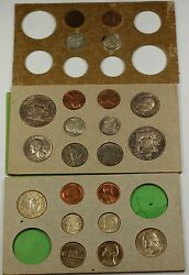 1955 U.s. Complete Original Naturally Toned Double Mint Set 22 Coins 12 Silver