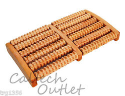 6 Raw Wooden Wood Roller Foot Massager Stress Relief Health Therapy Relax