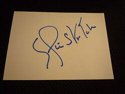 Elaine Stritch Signed Autograph In Person White Index Card