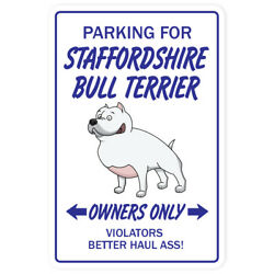 STAFFORDSHIRE BULL TERRIER Novelty Sign dog pet gift breed groom puppy animal