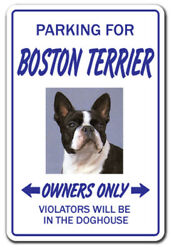 BOSTON TERRIER Novelty Sign dog gift dogs groomer gag gift breeder pet animal