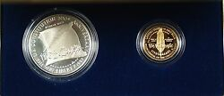 1987 Us Mint Constitution 2 Coin Gold And Silver Commem Proof Set As Issued Dgh