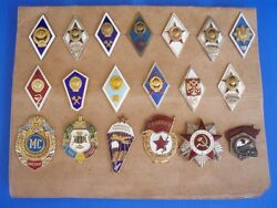 Soviet Russian Ussr Military Academy Badges Set Of 20