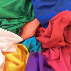 Cotton Polyester Broadcloth Fabric Apparel 45quot; Inch Solid Per Yard Poly Cotton