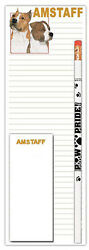 American Staffordshire Terrier Notepad amp; Pencil Gift Set