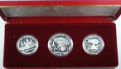 1978 10 And 5 Ruble Russia Commemorative Silver Proof 3 Coin 1980 Olympic Set