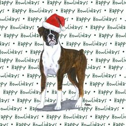 Boxer Dog Coasters Christmas Themed Uncropped