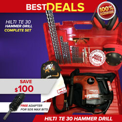 Hilti Te 30 Hammer Drill, Preowned, Free Adapter For Sds Max, Extras, Fast Ship