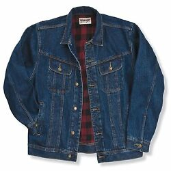 Nwt Wrangler Rugged Wear Flannel Lined Jacket - Various Sizes - Denim