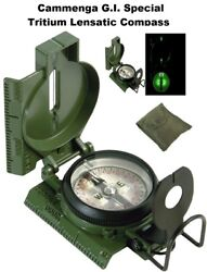 Army Olive Drab Gi Military Special Tritium Lensatic Compass W/ Pouch 917 Rothco