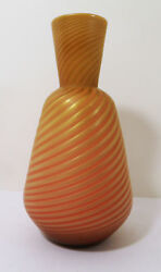 Stevens And Williams England Northwood Pompeian Swirl Mother Of Pearl Satin Vase