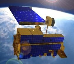 EOS AM-1 Terra Climate Research Satellite Wood Model Replica Small Free Shipping