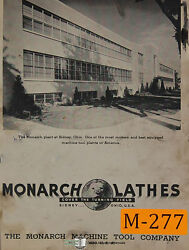 Monarch Kk12, Lathe, Operations And Parts Manual Year 1949