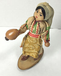 Vintage Native American 6 Soft Plastic And Cloth Doll