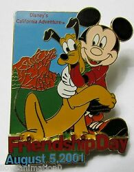 Disney Dca Friendship Day Mickey Mouse And Pluto Pin