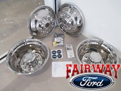 11 Thru 21 Ford Super Duty Dually Oem 19.5 Stainless Wheel Liners Simulators
