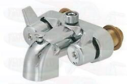 """3-3/8"""" Heavy Duty Chrome Clawfoot Tub And Shower Diverter Add-a-shower Faucet"""