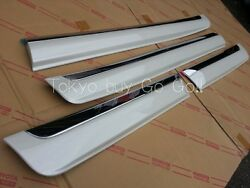 Toyota Land Cruiser 200 Color 070 White Genuine Side Protection Molding 2008-15