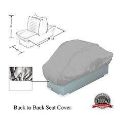 Waterproof Boat Back To Back Seat Cover 50 D X 22 W X 22 H Grey
