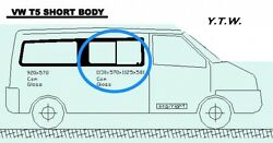 Vw Transporter T5 Swb Privacy Slider Window -os- Front Supply Only