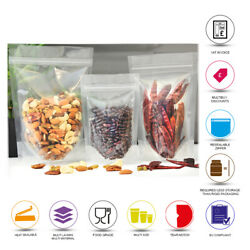 Stand Up Pouch Clear Pouch Sealable Zip Lock Grip Heat Seal Food Packaging Pouch