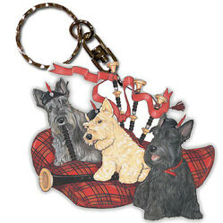 Scottish Terrier Wooden Keychain