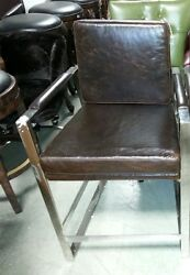 Frontgate Seville Counter Height Barstool Chair Kitchen Stool Espresso Leather
