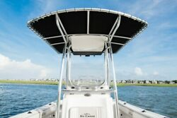 Custom Aluminum Boat T Top With Sunbrella Canvas By High Speed Welding