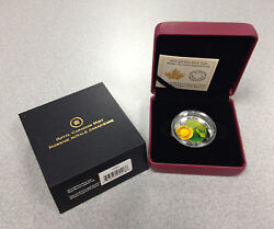 2014 Royal Canadian Mint 20 Water Lilly And Venetian Glass Leopard Frog Coin